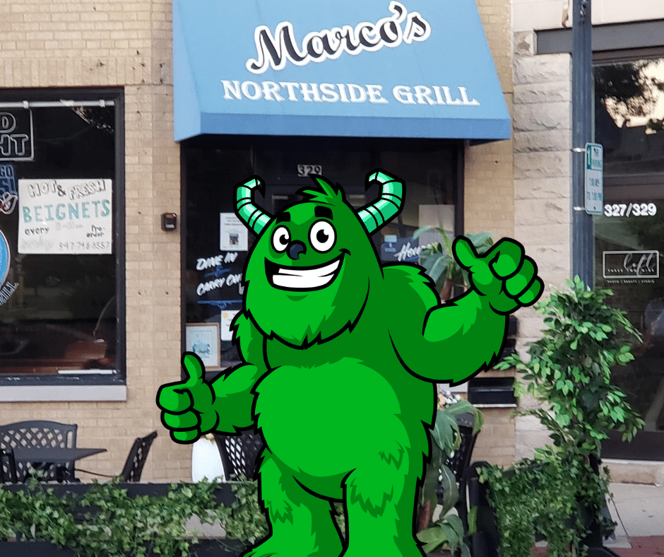 Grabbing a burger at Marco's on Waukegan Ave in Highwood, IL!