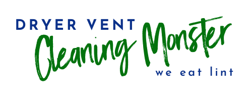 Dryer Vent Cleaning Monster Text Logo